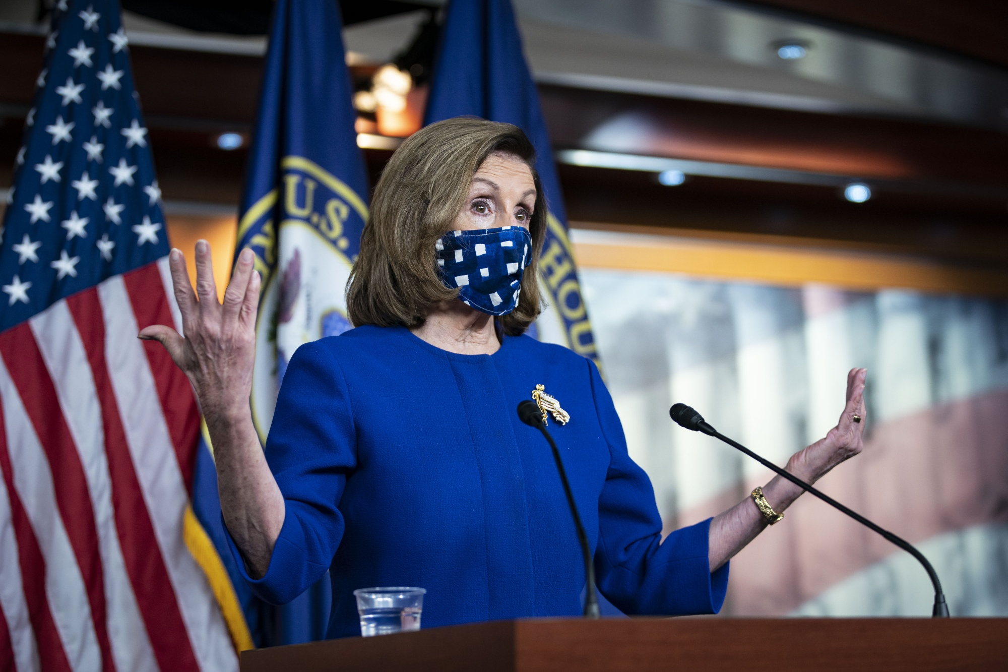 Nancy Pelosi at the U.S. CapitolonOct. 22.