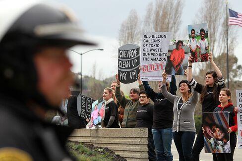 Protesters Outside Chevron Headquarters
