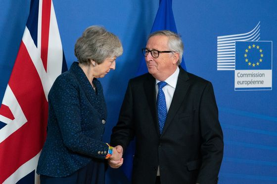 May Heads to Brussels Seeking Escape From Brexit Backstop 'Trap'