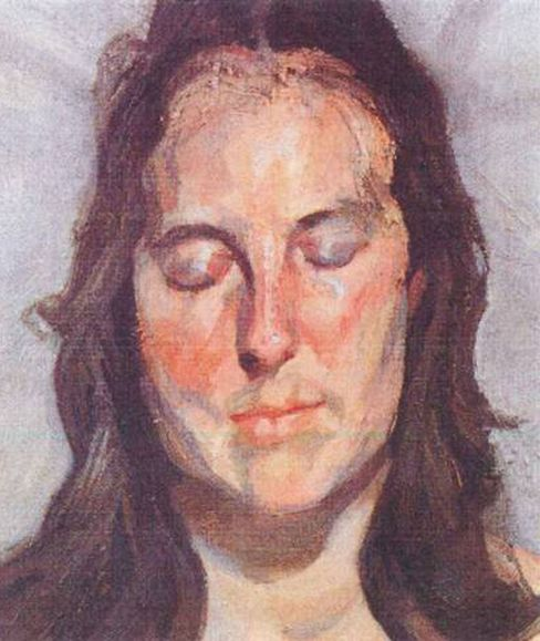 'Woman with Eyes Closed'