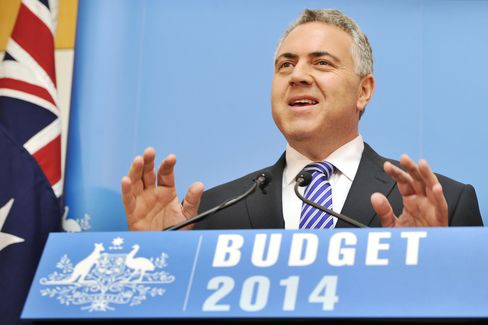 Australia's Treasurer Joe Hockey