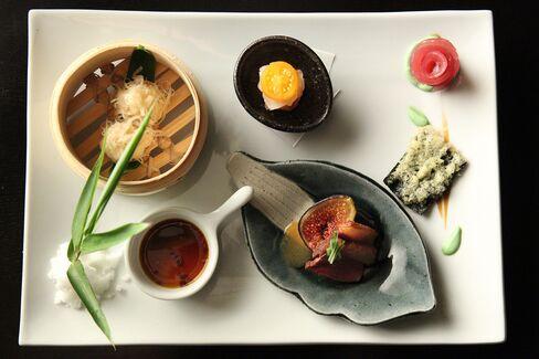 A dish from Niki Nakayama's kaiseki menu.