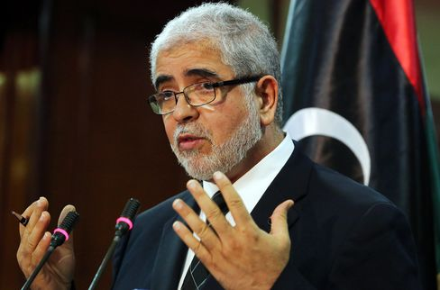 Libya's Prime Minister-elect Mahmoud Abushagur