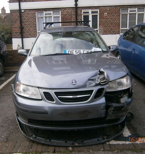 Laura Capehorn's Saab was stolen and then driven into a wall and dumped