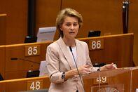 Germany's Chancellor Angela Merkel Outlines European Union Presidency Plans