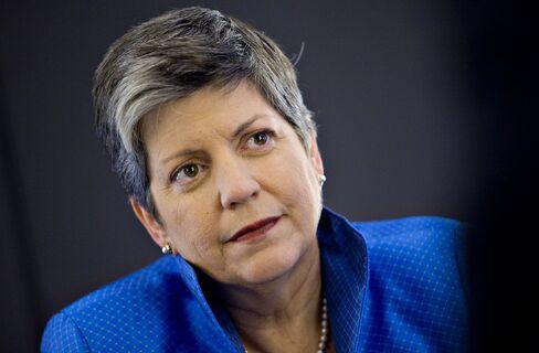 Homeland Security Secretary Janet Napolitano