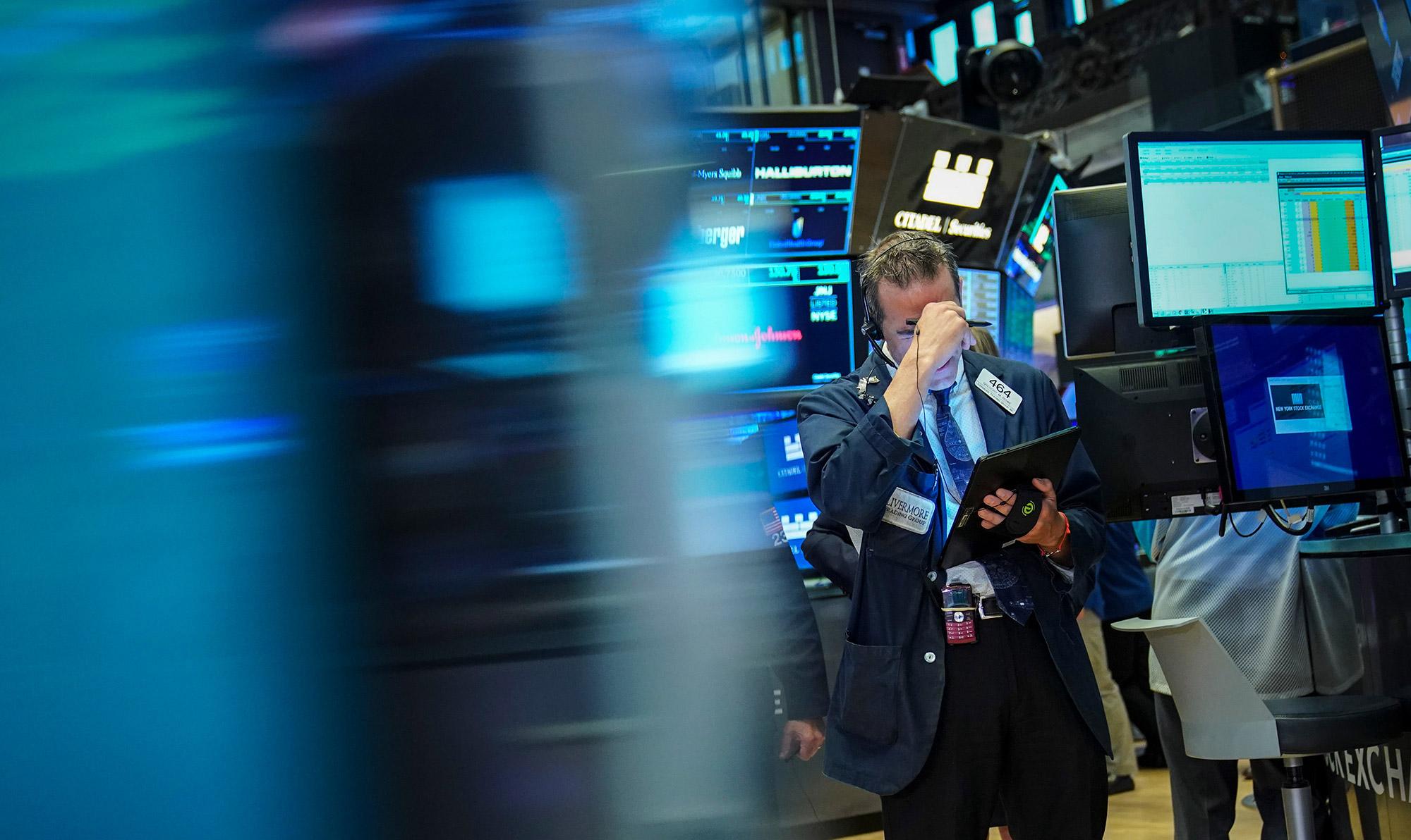 【米国株・国債・商品】株が反落、国債まちまち-貿易巡る警戒感強い - Bloomberg
