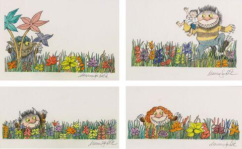 Maurice Sendak:Wild Things in the Grass, 1997