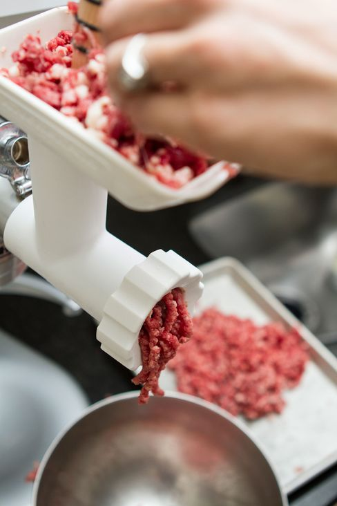 You don't need to freeze your meat before grinding. Just make sure it—and all your tools—are well-chilled.