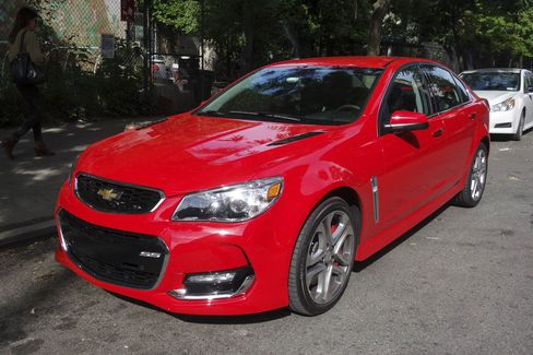 The Chevy SS comes with 19-inch alloy rims. The engine provdes 415 pound-feet of torque.