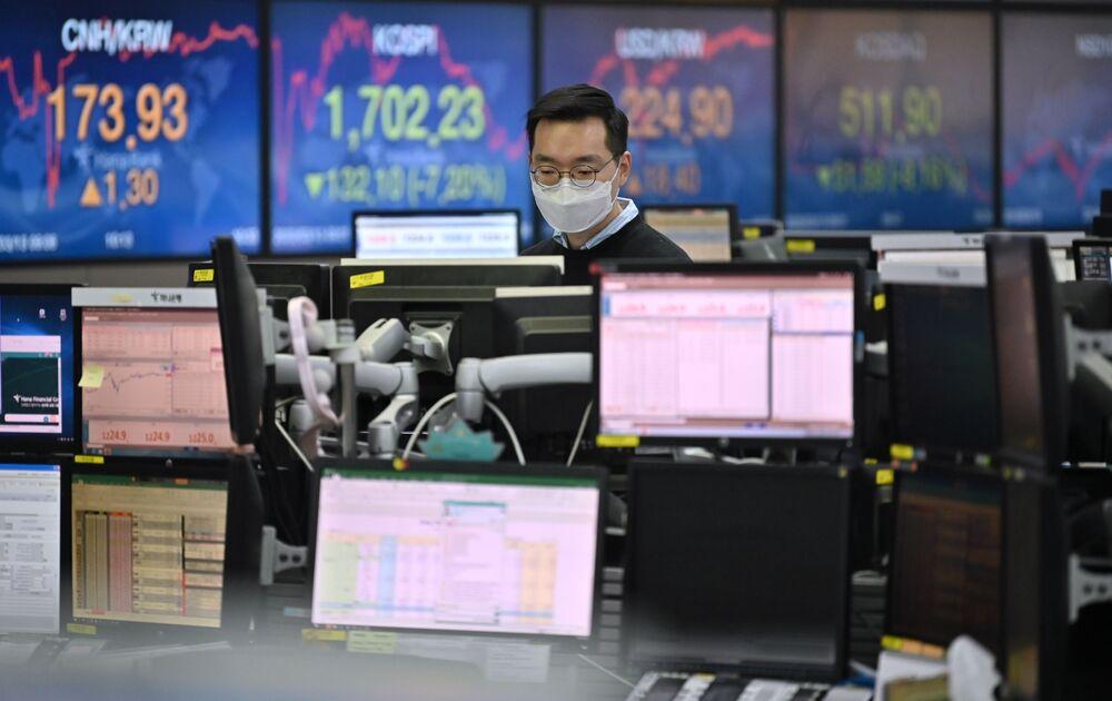 stocks trading room