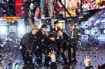 BTS performs at the Times Square New Year's Eve celebration in New York in 2019.