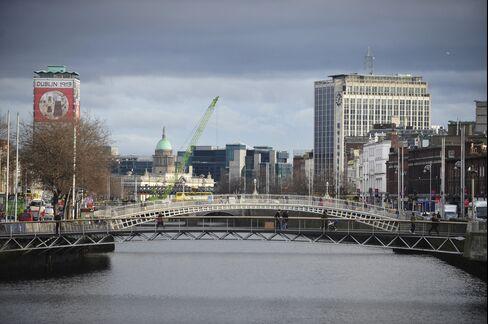 Bridges Span the River Liffey in Dublin