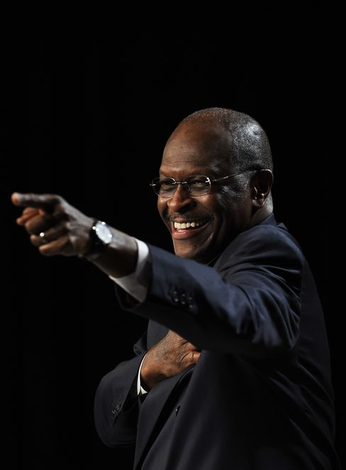 One-Time Pizza Magnate and Sunny-Skies Orator Herman Cain