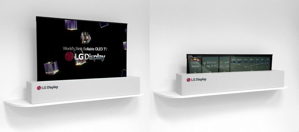 LG Plans to Sell TVs That Roll Up Like Posters in 2019