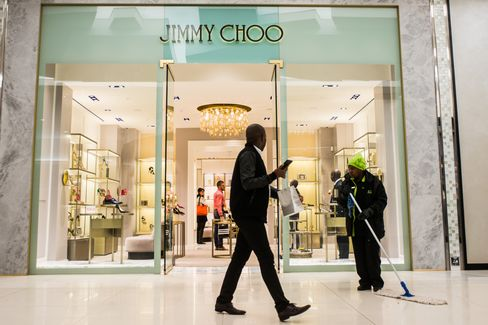 Jimmy Choo Plc are among international brands that have opened their first Johannesburg outlets. Photographer: Waldo Swiegers/Bloomberg
