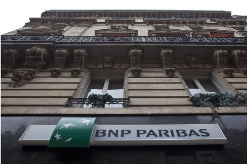 The Logo of BNP Paribas SA Sits Outside Bank Branch in Paris