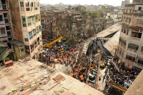 Under-Construction Flyover Collapses In Kolkata