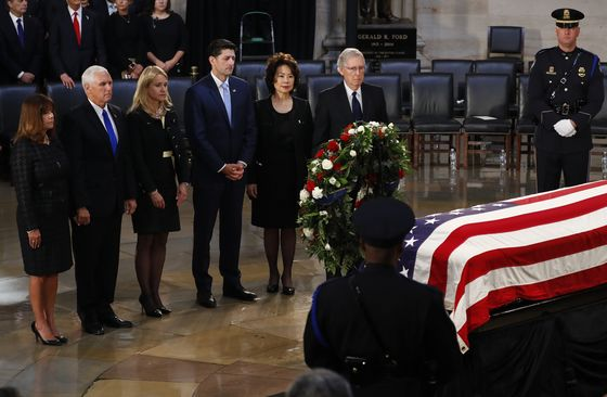 Final Public Farewell to John McCain Draws Washington Elite