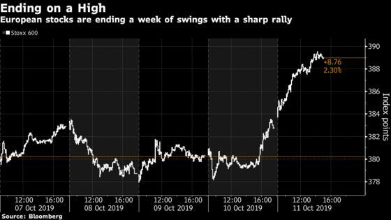 European Stock Investors Finally Get a Friday to Smile About