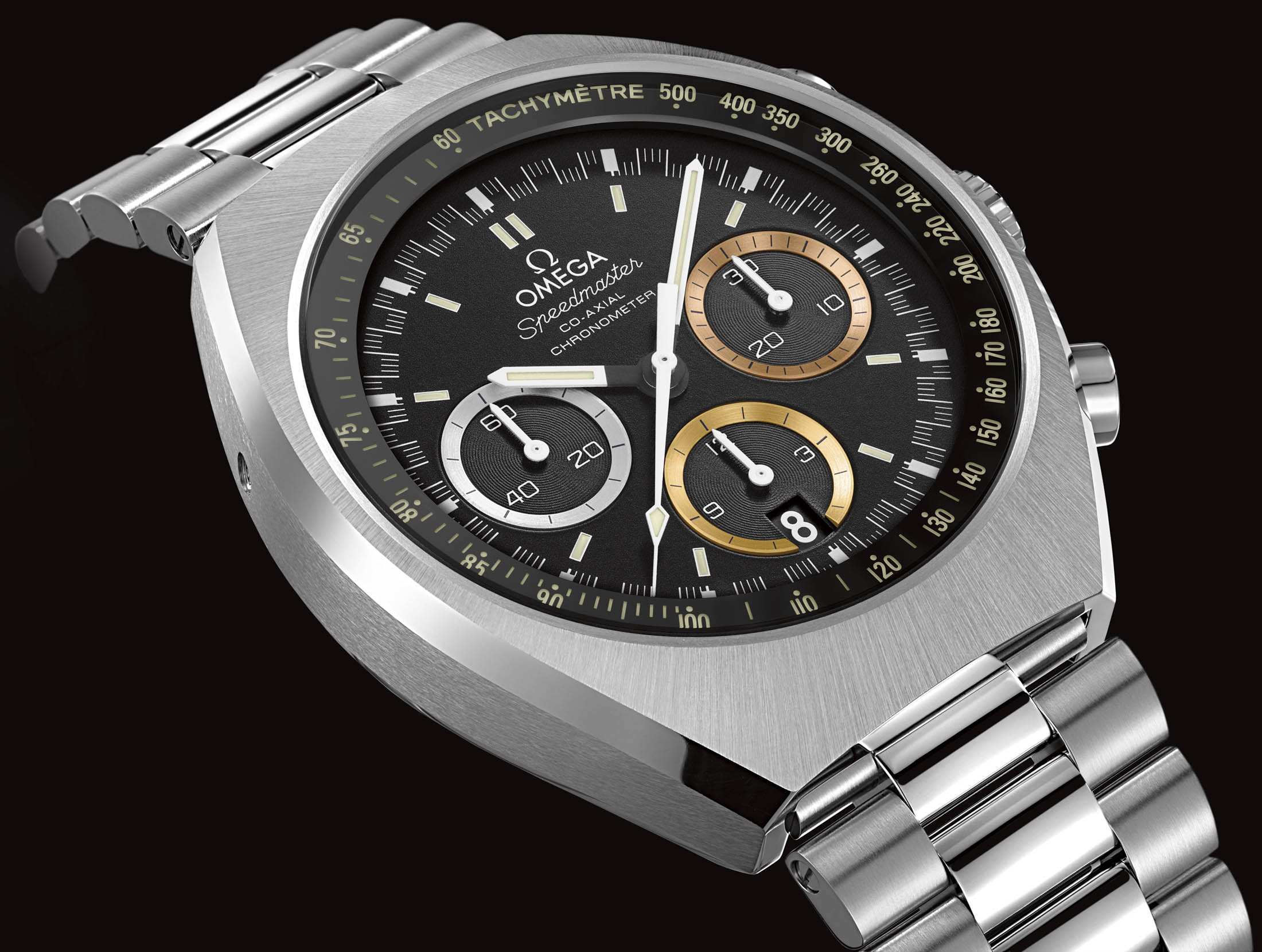 watch axial chronograph speedmaster coaxial on moonwatch omega titanium watches co blue hands