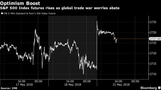 Asian Stocks Advance as U.S. and China Put Trade War `on Hold'