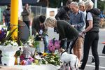 CHRISTCHURCH, NEW ZEALAND - MARCH 16: The floral tributes grow on Deans Avenue near the Al Noor Mosque as locals pay tribute to those who were killed on March 16, 2019 in Christchurch, New Zealand.