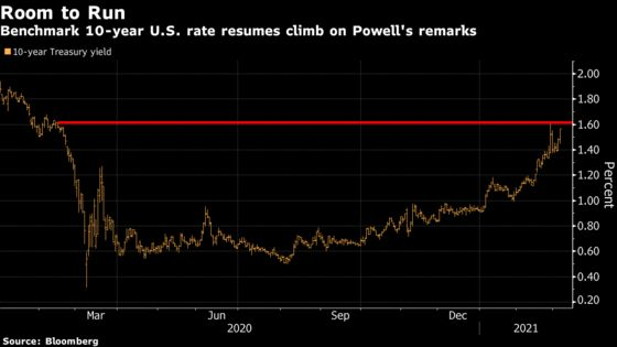 Bond Traders Drive Up Yields After Lack of Powell Pushback