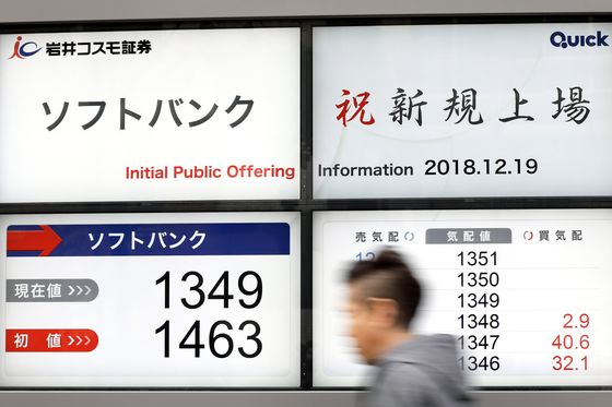 SoftBank's Telecom Unit Tumbles Below IPO Price in Debut