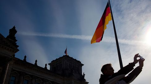 The Reichstag, Germany's parliament building, in Berlin.