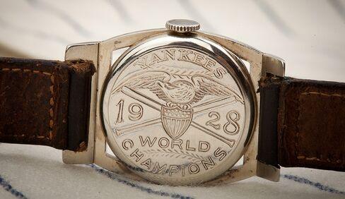 Lou Gehrig's 1928 Championship Wristwatch