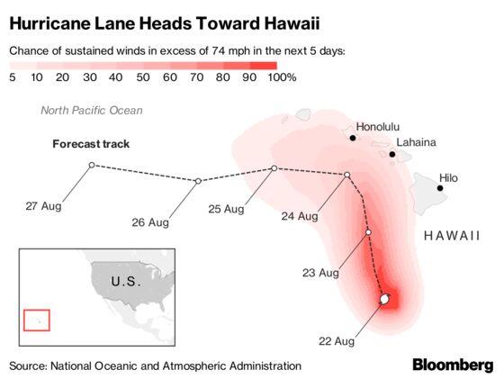 Hurricane Lane Pummels Hawaii With Rain, TriggeringFloods and Landslides