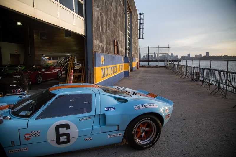 A 1966 Ford GT40 at the new location of the Classic Car Club. & Classic Car Club Manhattan New Location at NYPD Stable Pier 57 ... markmcfarlin.com
