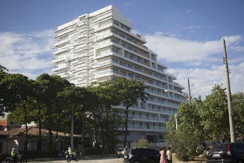 The Trump Hotel in Rio de Janeiro's western Barra da Tijuca district is under construction on April 21, 2016.