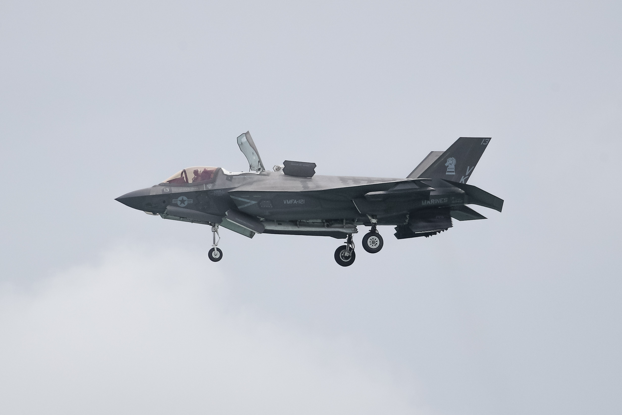 The F-35 fighter is in use by the military in nine nations, including the U.S. Air Force and Marine Corps.