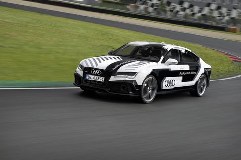An Audi Unmanned RS7 Automobile
