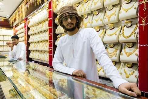 Gold Traders In The Dubai Gold Souk