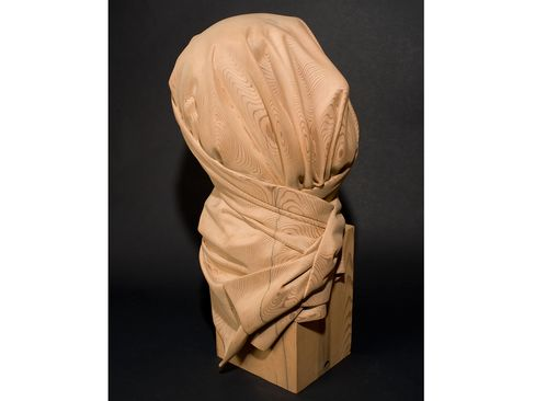 Dan Webb's Shroud (2008), an example of the intricate, unusual carvings the artist may make during his summer residency.
