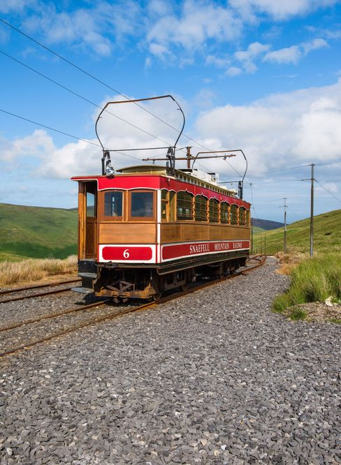 While the island is better known for its steam locomotives, the Manx Electric Railway also operates a 17-mile line from Douglas to Ramsey.