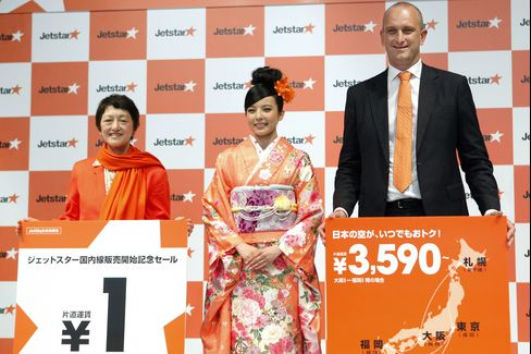 Jetstar Japan Plans at Least Four Bases in Budget-Carrier Push