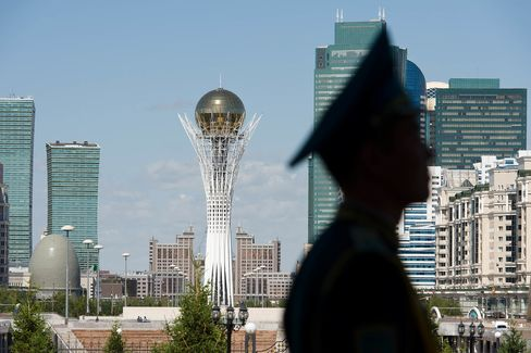 British Prime Minister David Cameron Visits Kazakhstan
