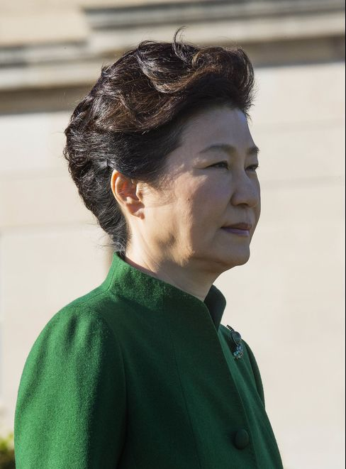 President of South Korea Park Geun-hye.