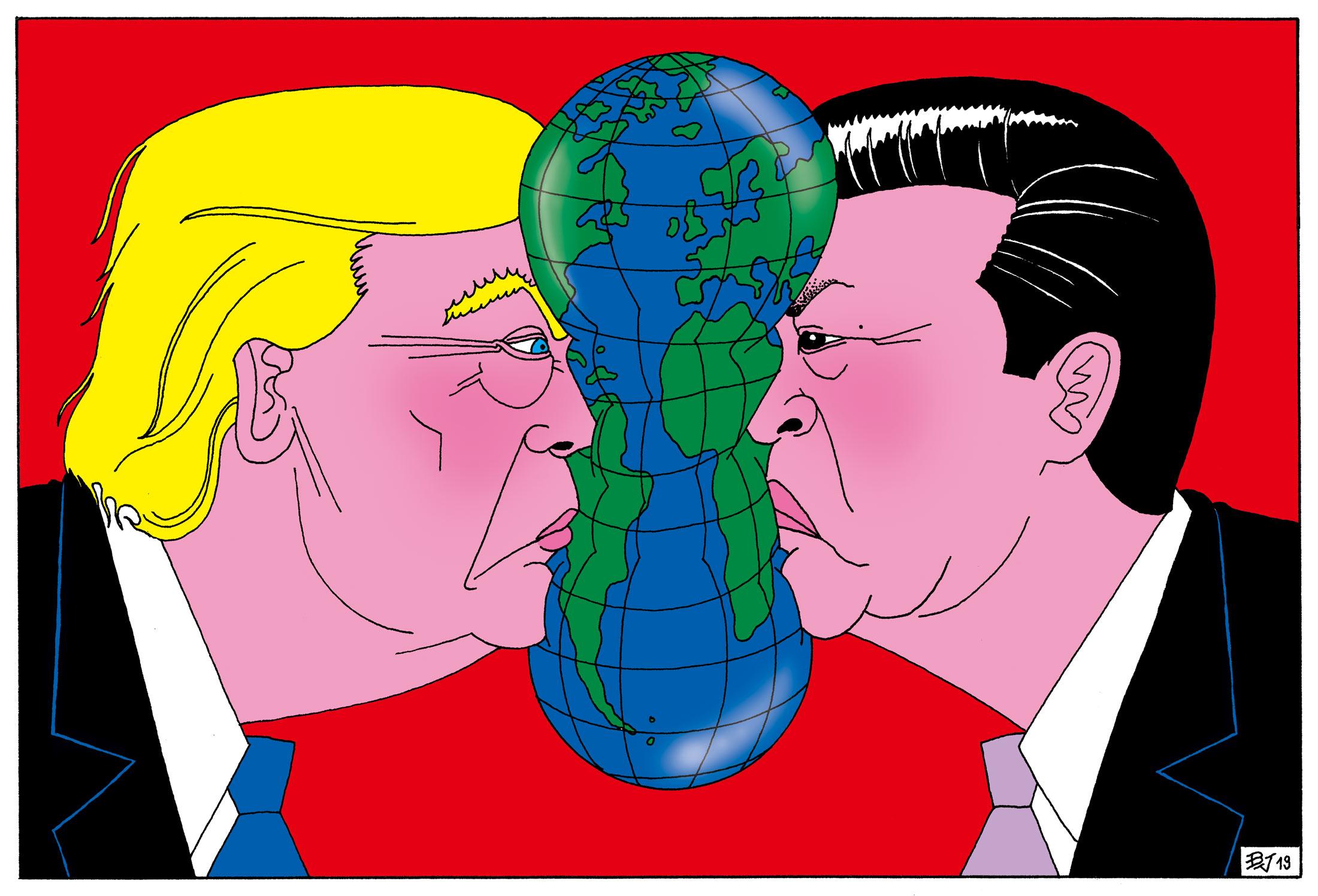 to się konfrontuje między Trumpem a Xi