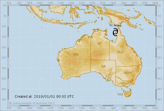 Tropical Cyclone Hits Far North Australia Near Rio Tinto Mine