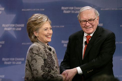 Hillary Clinton and Warren Buffett in 2007