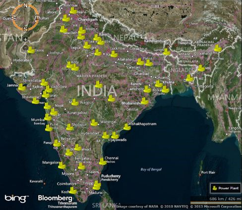 India gas plants.