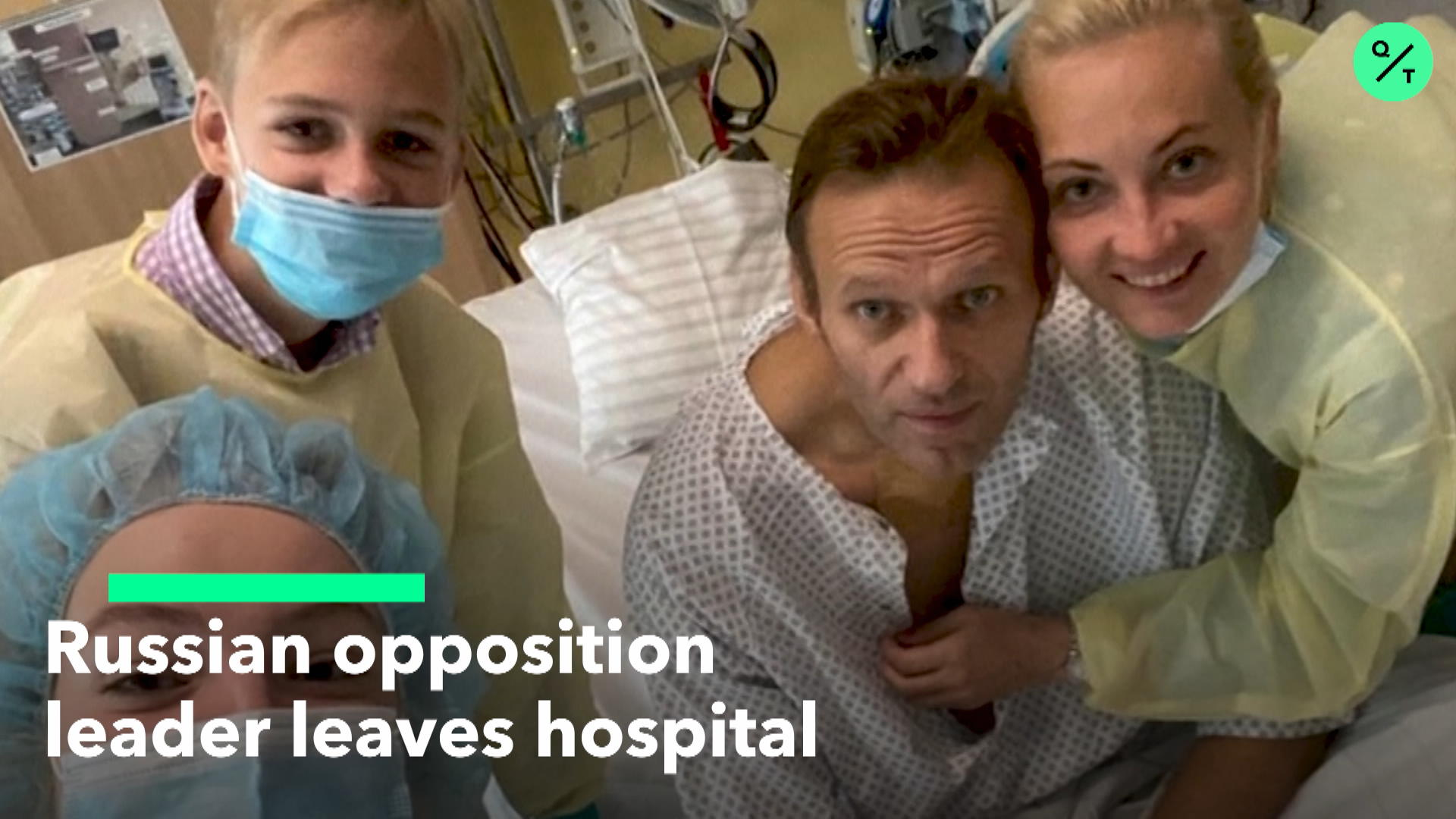 Russian Opposition Leader Exits Hospital