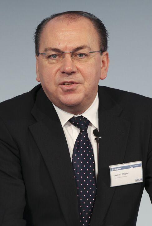 Axel Weber, president of the Deutsche Bundesbank