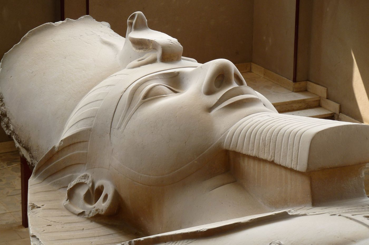 A statue of Ramses II near Giza