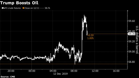 Oil Rises After U.S. Reaches Trade Deal in Principle With China